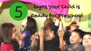 5 signs child ready for preschool